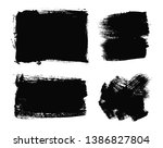 black grunge banners.dirty... | Shutterstock .eps vector #1386827804