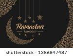 ramadan background ornament in...   Shutterstock .eps vector #1386847487