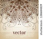 vintage vector pattern. hand... | Shutterstock .eps vector #138684839