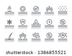 skin related line icon set....