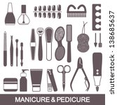 beauty and care manicure and... | Shutterstock .eps vector #138685637