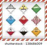 danger symbols | Shutterstock .eps vector #138686009