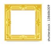 gold vintage frame | Shutterstock .eps vector #138686309