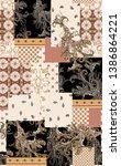 seamless square, paisley, border, frame, geometric patchwork print pattern. scarf design.