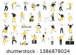 set of business people flat... | Shutterstock .eps vector #1386878024