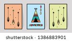 adventure inscription and three ... | Shutterstock .eps vector #1386883901