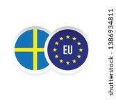 sweden european union badge flag | Shutterstock .eps vector #1386934811