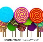 colorful lollipop | Shutterstock . vector #138694919