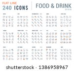 big collection of linear icons. ... | Shutterstock . vector #1386958967