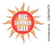 big summer sale banner   text... | Shutterstock .eps vector #138696674