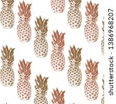 vector pattern with hand drawn... | Shutterstock .eps vector #1386968207