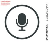 microphone vector icon    lorem ...