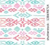 seamless blue pink aztec... | Shutterstock .eps vector #138698714