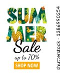 summer sale poster. special...   Shutterstock .eps vector #1386990254