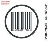 barcode vector icon 10 eps  ... | Shutterstock .eps vector #1387000034