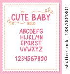 vector cute and sweet font with ... | Shutterstock .eps vector #1387004801