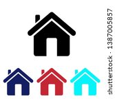 home house architecture vector... | Shutterstock .eps vector #1387005857