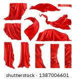 red curtain vectorized image.... | Shutterstock .eps vector #1387006601