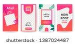 summer stories concept for... | Shutterstock .eps vector #1387024487