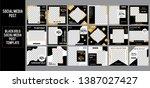 black gold social media post... | Shutterstock .eps vector #1387027427
