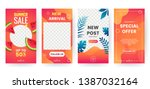 set of summer banner for social ... | Shutterstock .eps vector #1387032164