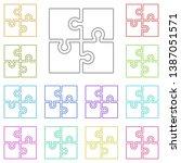 puzzle icon multi color icon....