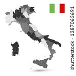administrative divisions map of ... | Shutterstock .eps vector #1387063691