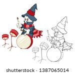 vector illustration of a cute...   Shutterstock .eps vector #1387065014