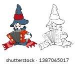vector illustration of a cute...   Shutterstock .eps vector #1387065017