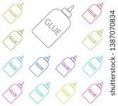 glue vector multi color icon....