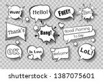 set of comic speech bubbles.... | Shutterstock .eps vector #1387075601