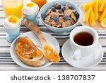 healthy breakfast   Shutterstock . vector #138707837