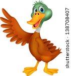 cute duck cartoon   Shutterstock .eps vector #138708407