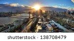 beautiful sunset panorama of... | Shutterstock . vector #138708479