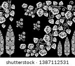 seamless black and white... | Shutterstock . vector #1387112531