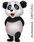 cute panda cartoon | Shutterstock . vector #138711521