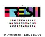 vector of stylized modern font... | Shutterstock .eps vector #1387116701