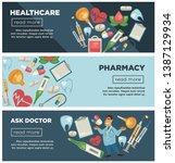 doctor consultation healthcare...   Shutterstock .eps vector #1387129934