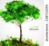 green abstract tree forming by... | Shutterstock .eps vector #138713354