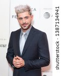 Small photo of New York, NY - May 2, 2019: Zac Efron attends premiere of Extremely Wicked, Shockingly Evil and Vile movie during Tribeca Film Festival at Stella Artois Theatre at BMCC TPAC