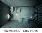 top view of locked old prison... | Shutterstock . vector #138714095