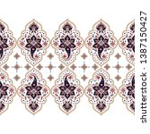indian paisley pattern vector... | Shutterstock .eps vector #1387150427