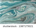 pale gold marbling pattern.... | Shutterstock . vector #1387175021