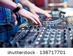 dj mixing in night club | Shutterstock . vector #138717701