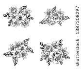 flowers set. collection of... | Shutterstock . vector #1387208297