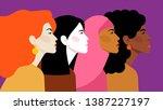 multi ethnic beauty. different... | Shutterstock .eps vector #1387227197