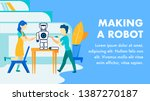 making robots for kids flat... | Shutterstock .eps vector #1387270187