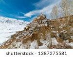 key gompa tibetan monastery in... | Shutterstock . vector #1387275581