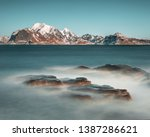 long exposure during the day on ... | Shutterstock . vector #1387286621