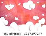 colorful geometric background.... | Shutterstock .eps vector #1387297247